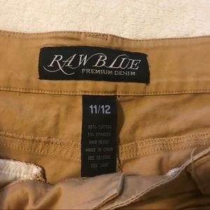 Shorts - Raw Blue Premium Denim Khaki short square pocket